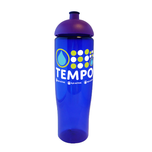 Tempo Sports Bottle in blue-domed-lid