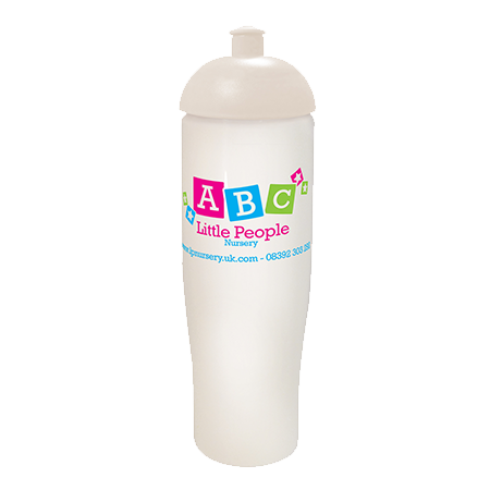 Tempo Sports Bottle in white-domed-lid