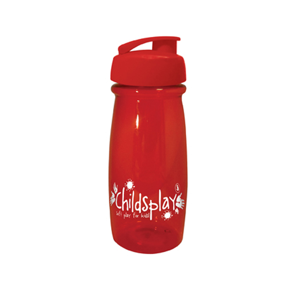 Pulse Sports Bottle in red-flip-lid
