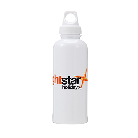 Splash Water Bottle in white