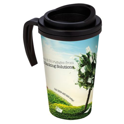 Brite-Americano® Grande Thermal Mug in black