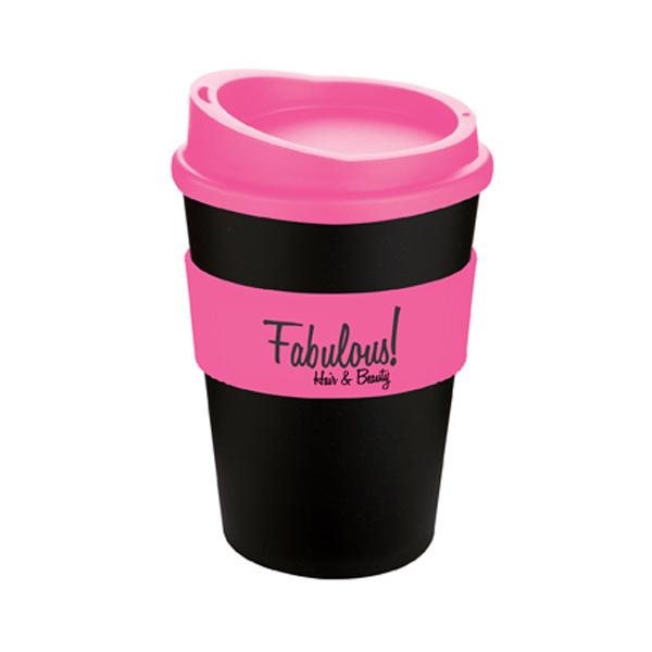 Americano® Medio Mug in black-and-pink