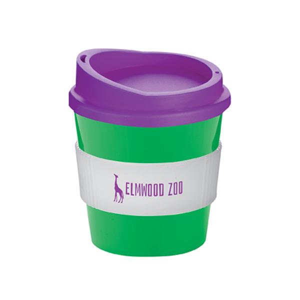 Americano® Primo Mug in green-mug-white-grip-and-purple-lid