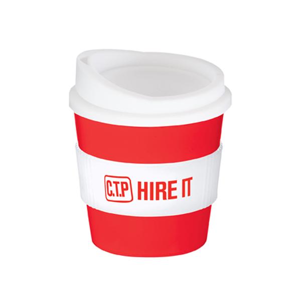 Americano® Primo Mug in red-and-white