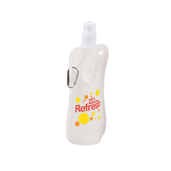 Economy Foldable Sports Bottle in white