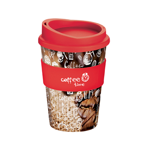 Brite-Americano® Medio Mug in red