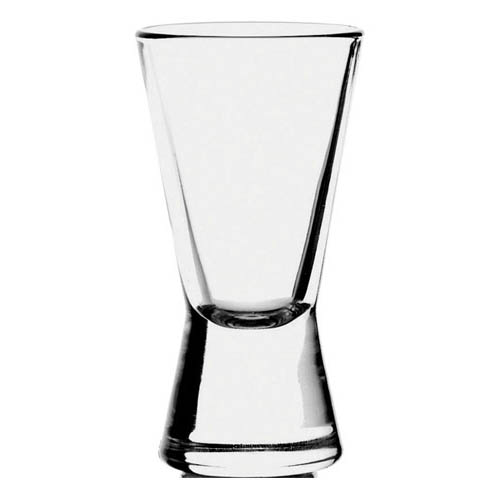 Heavy Base V shaped Shot Glass bulk packed