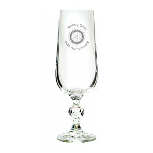 Crystal flute glass