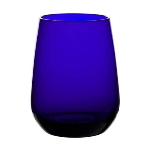Cobalt blue premium crystal water tumbler bulk packed