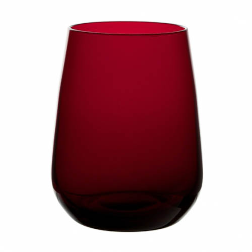 Cranberry red premium crystal water tumbler bulk packed