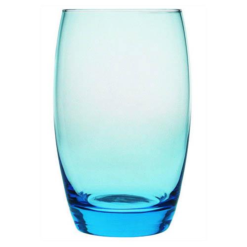 Blue bowl shaped highball