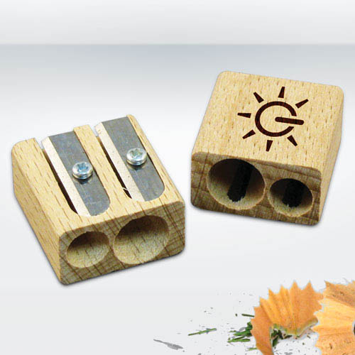 Wooden Pencils Sharpeners, Double