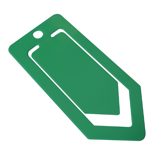 Recycled Large Paper Clip in green