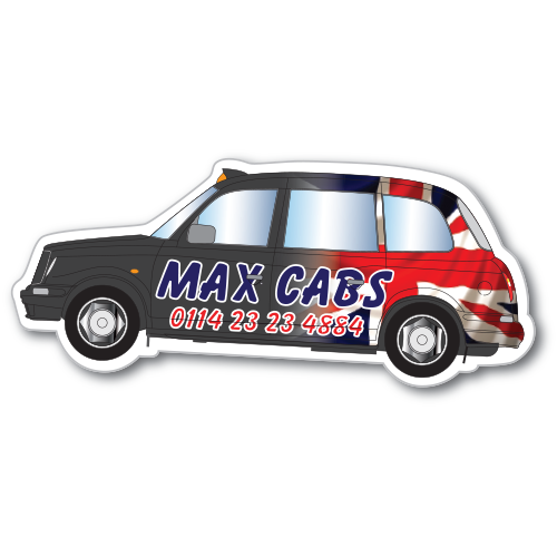 Flexible Fridge Magnet Black Cab
