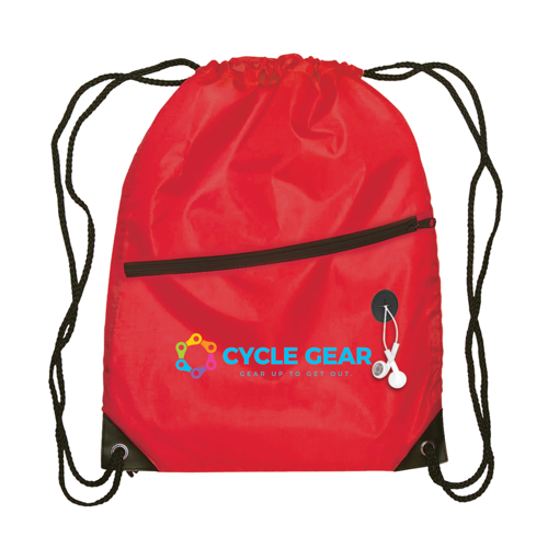 Berlin - Drawstring Backpack in red