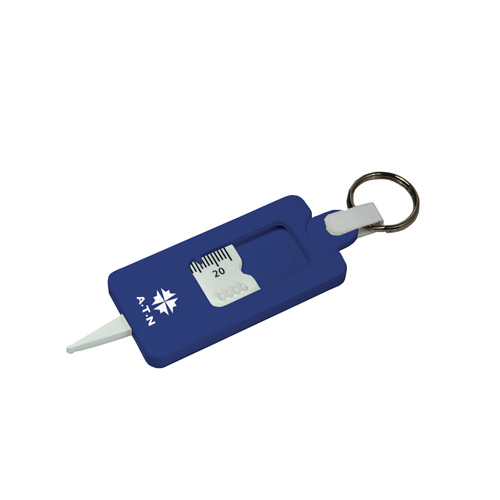 Tyre Tread Gauge Keyring Classic in blue