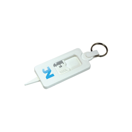 Tyre Tread Gauge Keyring Classic in white