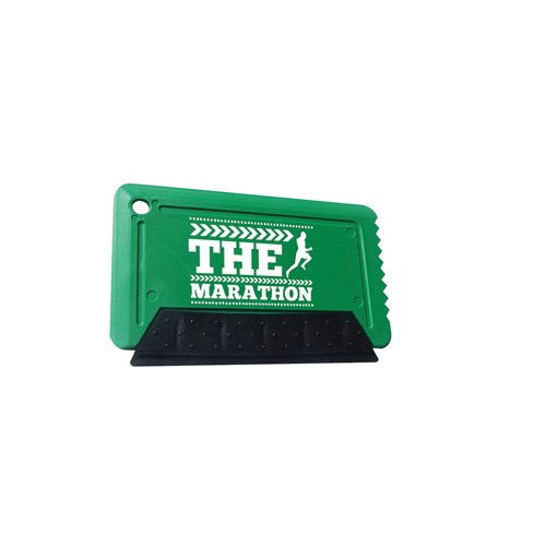 Icescraper Credit Card Ice Scraper with Rubber in green