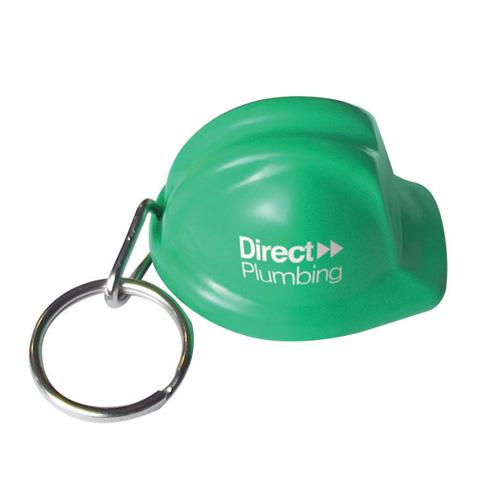 Hard Hat Keyring in green
