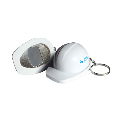 Bottle Opener Hard Hat Bottle Opener in white