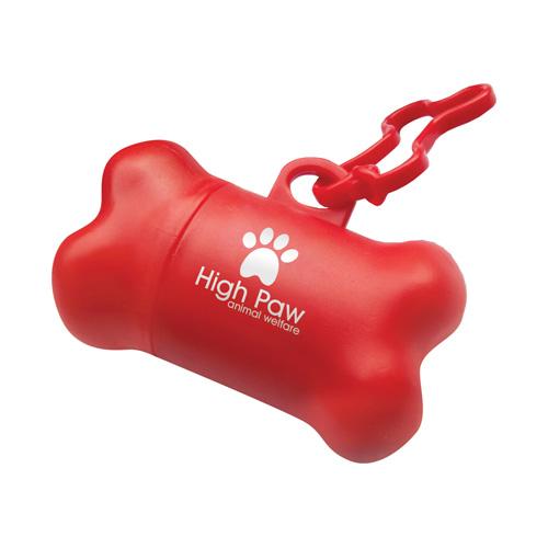 Pet Poop Bag Holder in red