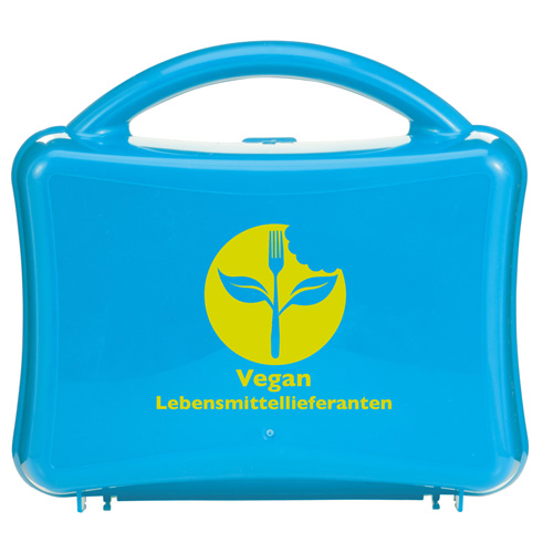 Lunchbox Junior Lunchbox with Handle in cyan