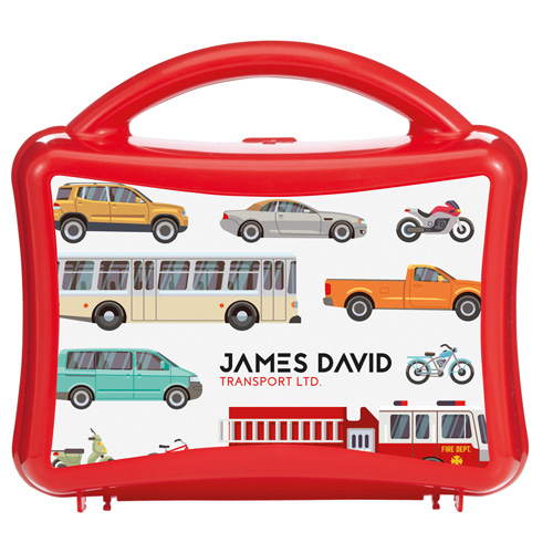 Lunchbox Junior Lunchbox with Handle in red