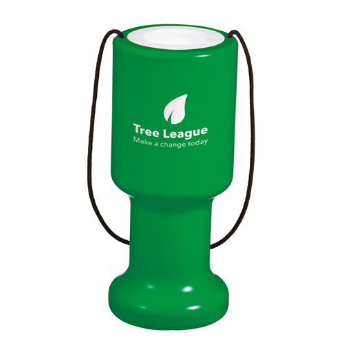 Charity Container Hand Held in green