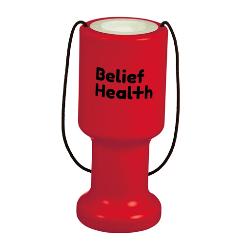 Charity Container Hand Held in red