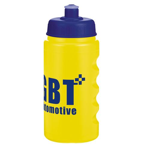 500ml Finger Grip Baseline Bottle in yellow