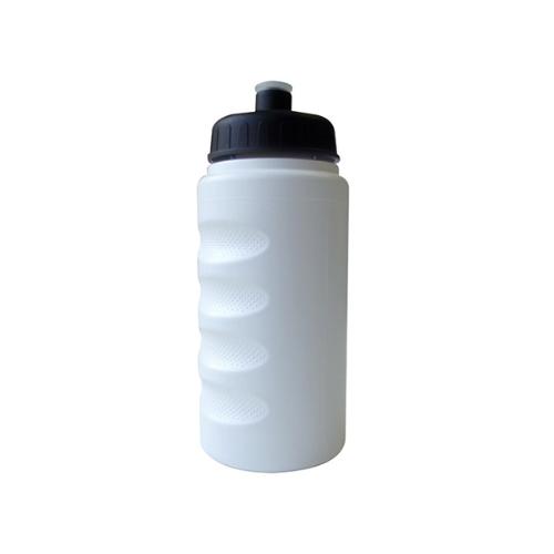 500ml Finger Grip Baseline Bottle in white