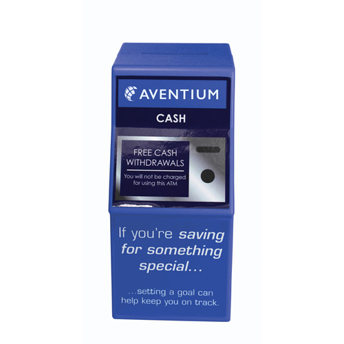 ATM Money Box in blue