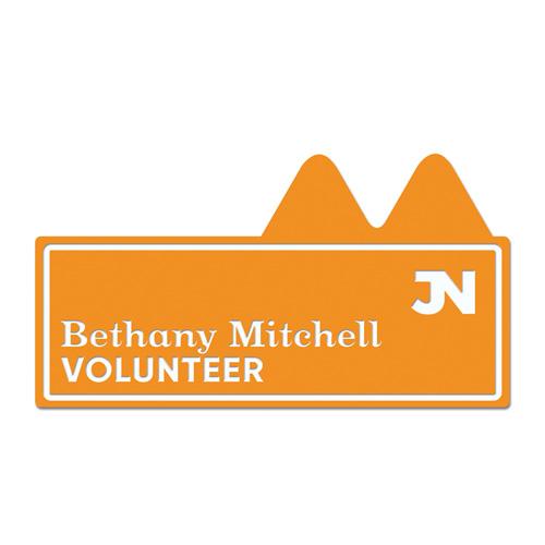 Name Badge - Individual in orange