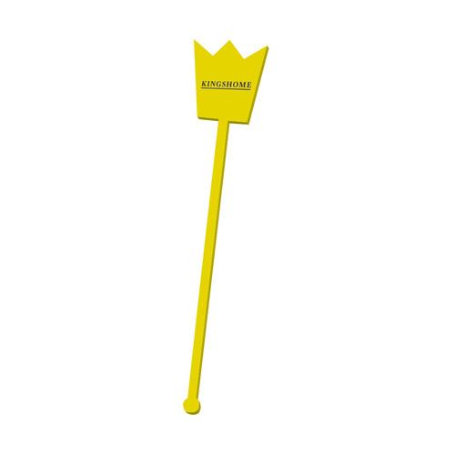 Swizzle Shaped Swizzle Stick in yellow