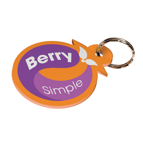 Keyfob Shaped Keyfob within 50mm x 60mm in digital