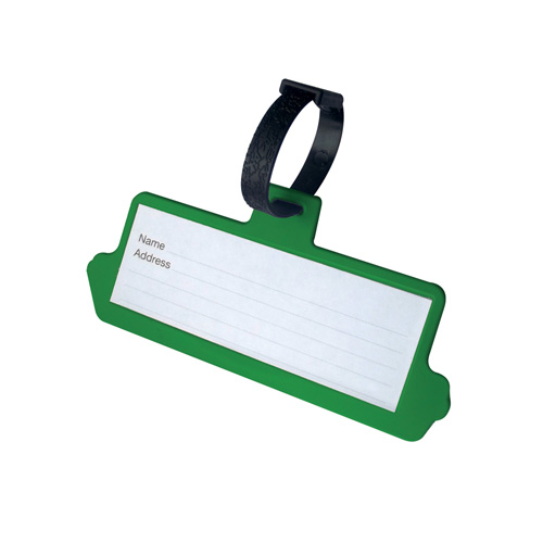 Luggage Tag Shaped Luggage Tag in green