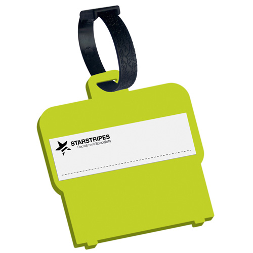 Luggage Tag Shaped Luggage Tag in lime