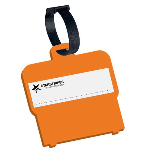 Luggage Tag Shaped Luggage Tag in orange