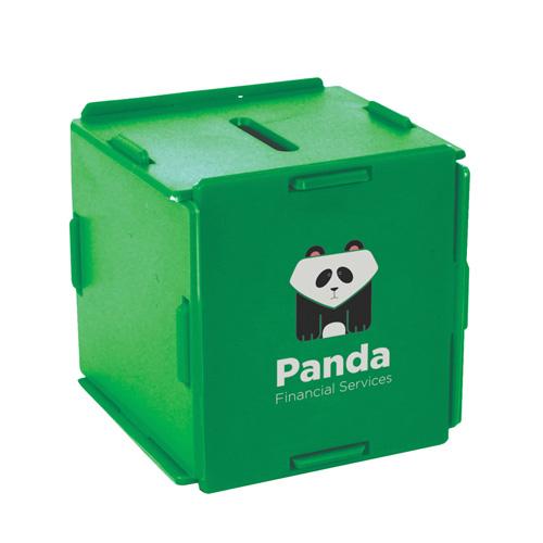 Moneybox Square Money Box in green