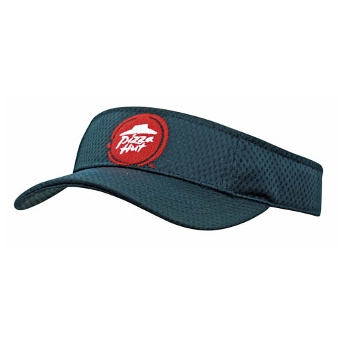 Sports mesh visor fabric covered short touch strap