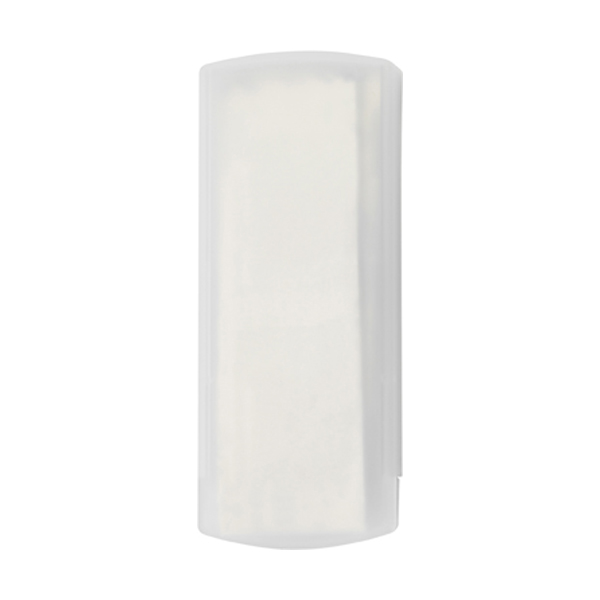 Plastic case with five plasters in white