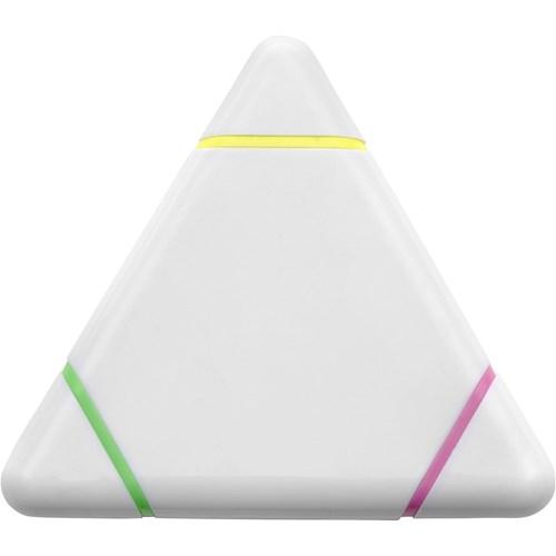 Plastic triangular text marker. in white