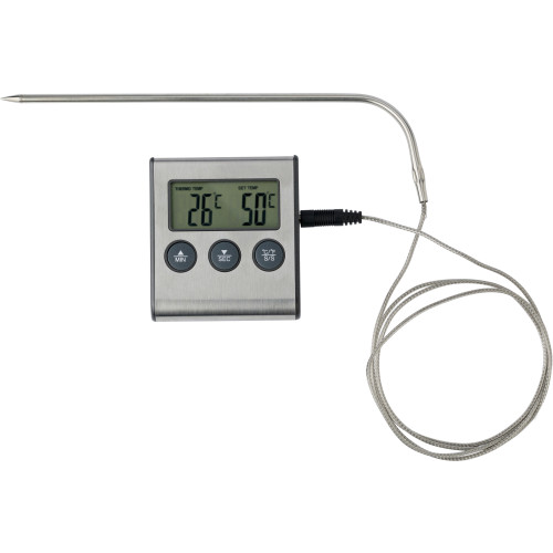 Meat thermometer. in black-and-silver-1