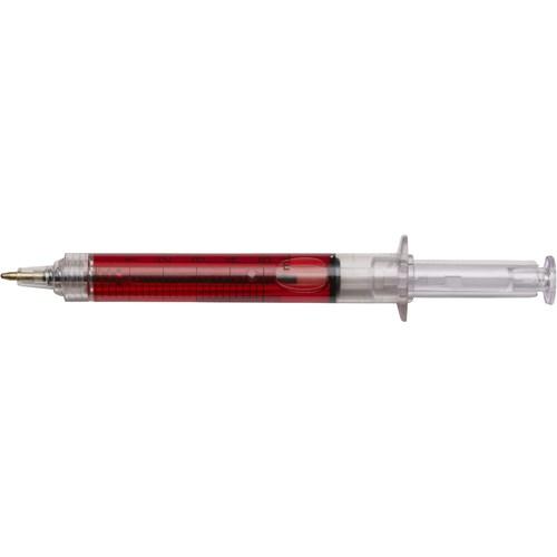 Syringe ballpen in transparent