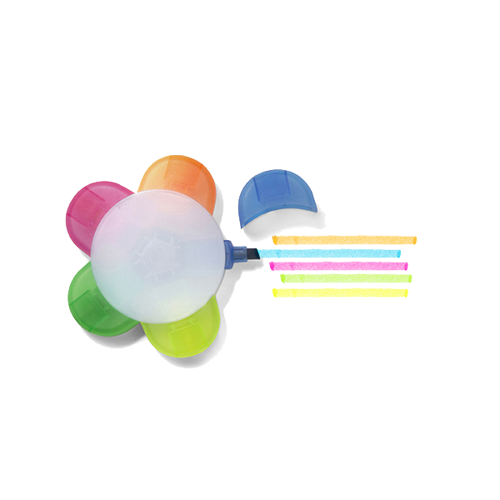 Text marker, five colours