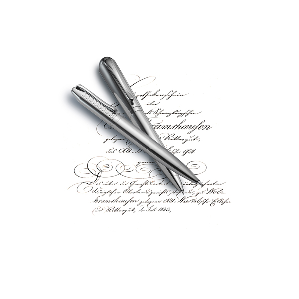 Charles Dickens metal ballpen in black