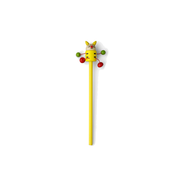 Animal pencil, 50 assd per pack in yellow