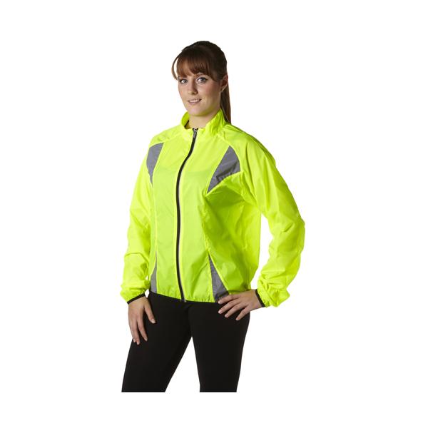 Nylon (190T) fluorescent runners jacket.