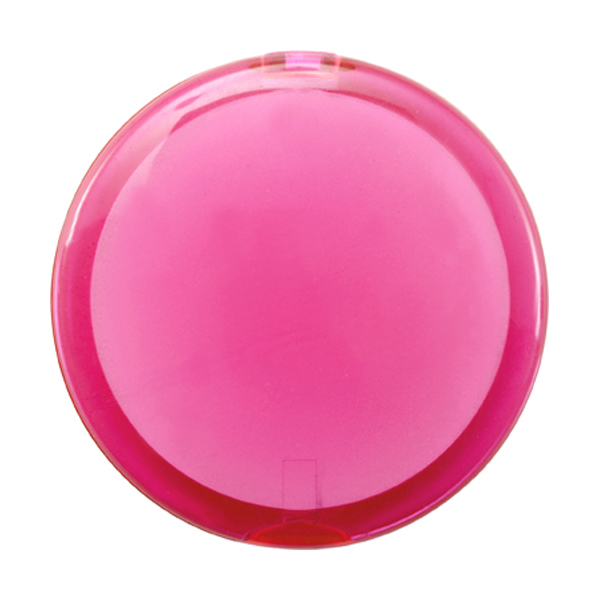 Plastic double pocket mirror. in pink