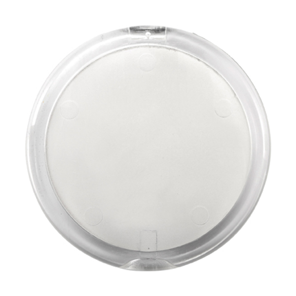 Plastic double pocket mirror. in white
